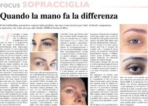 Microblading Sopracciglia articolo Repubblica
