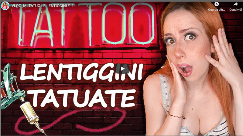 lentiggini tatuate Video lucy L3in Sonia di Meo